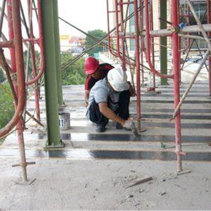 Perkuatan struktur beton menggunakan fiber carbon